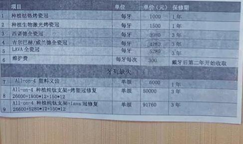 浙江省口腔医院做种植牙多少钱一颗?